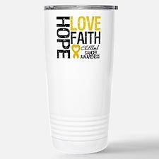 Childhood Cancer Faith Travel Mug