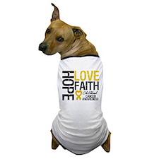 Childhood Cancer Faith Dog T-Shirt