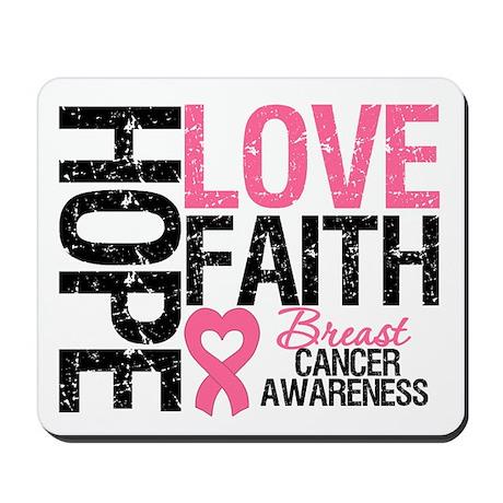 Breast Cancer Faith Mousepad