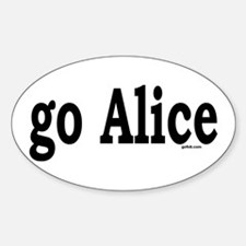 go Alice Oval Decal