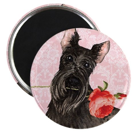 Scottish Terrier Rose Magnet