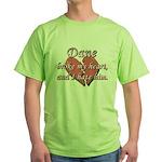Dane broke my heart and I hate him Green T-Shirt