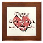 Dane broke my heart and I hate him Framed Tile