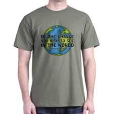Gandhi - Earth - Change T-Shirt