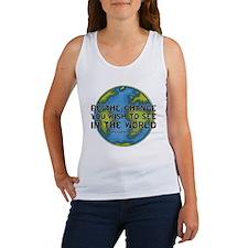 Gandhi - Earth - Change Women's Tank Top