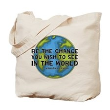 Gandhi - Earth - Change Tote Bag