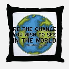 Gandhi - Earth - Change Throw Pillow