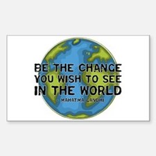 Gandhi - Earth - Change Rectangle Decal