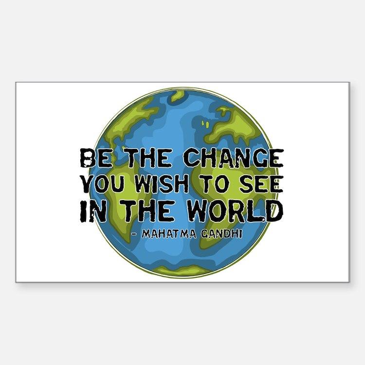 Gandhi - Earth - Change Rectangle Decal