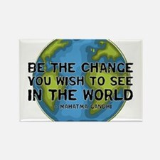 Gandhi - Earth - Change Rectangle Magnet (10 pack)