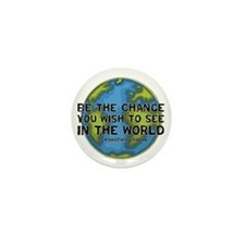 Gandhi - Earth - Change Mini Button