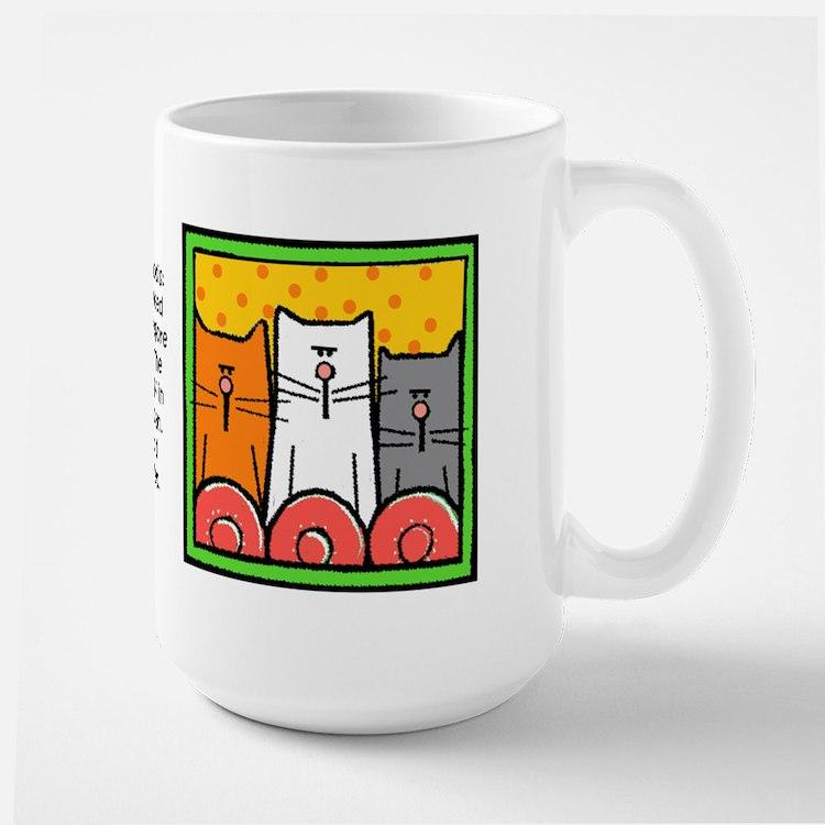 Cat Hypnosis Large Mug