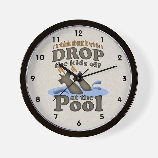 Drop the Kids Off Wall Clock