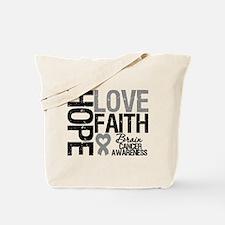 Brain Cancer Faith Tote Bag