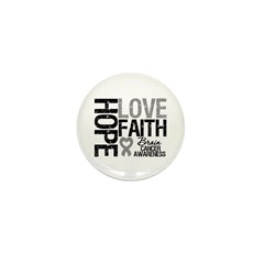 Brain Cancer Faith Mini Button (100 pack)