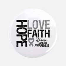 """Brain Cancer Faith 3.5"""" Button"""