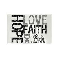 Brain Cancer Faith Rectangle Magnet