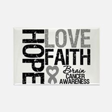 Brain Cancer Faith Rectangle Magnet