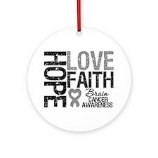 Brain Cancer Faith Ornament (Round)