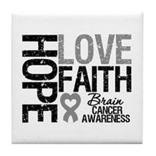 Brain Cancer Faith Tile Coaster