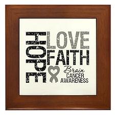 Brain Cancer Faith Framed Tile