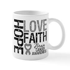 Brain Cancer Faith Mug