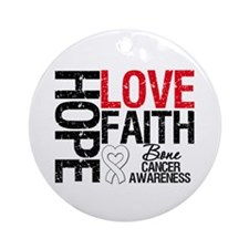 Bone Cancer Faith Ornament (Round)