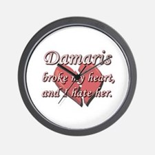 Damaris broke my heart and I hate her Wall Clock