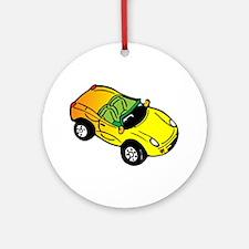 Yellow Car Ornament