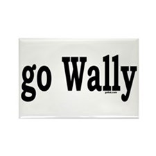 go Wally Rectangle Magnet