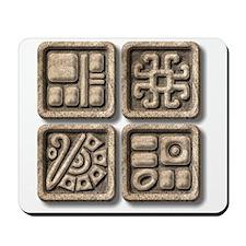 Mayan Glyphs-stone Mousepad