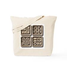 Mayan Glyphs-stone Tote Bag