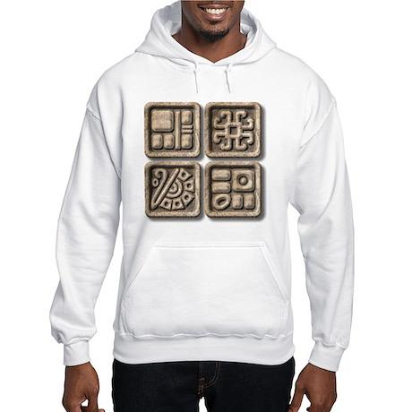 Mayan Glyphs-stone Hooded Sweatshirt
