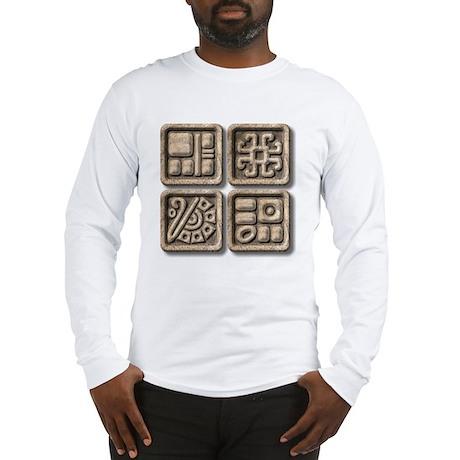 Mayan Glyphs-stone Long Sleeve T-Shirt