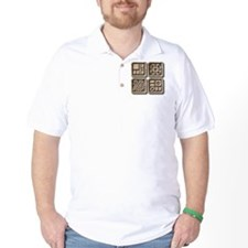 Mayan Glyphs-stone T-Shirt