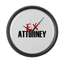 Ex Attorney Large Wall Clock