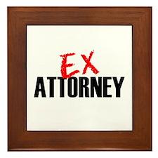 Ex Attorney Framed Tile
