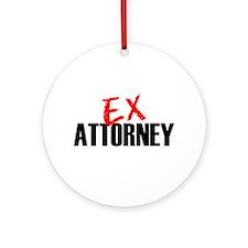 Ex Attorney Ornament (Round)