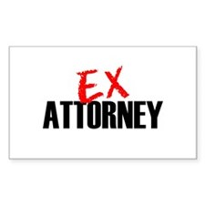 Ex Attorney Rectangle Decal