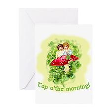 Top O'the Morning Vintage Irish Greeting Card