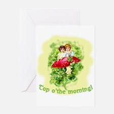 Top O'the Morning Vintage Irish Greeting Card