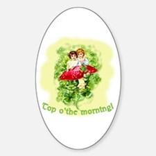 Top O'the Morning Vintage Irish Oval Decal