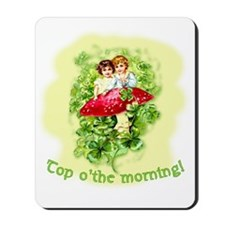 Top O'the Morning Vintage Irish Mousepad