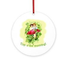 Top O'the Morning Vintage Irish Ornament (Round)