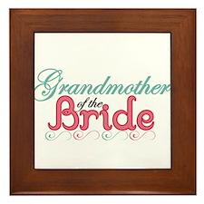 Grandmother of the Bride Framed Tile