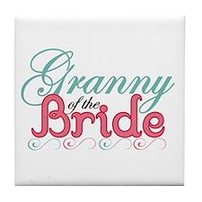 Granny of the Bride Tile Coaster