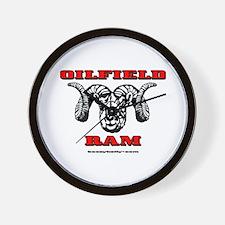 Oilfield Ram Wall Clock