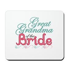 Great Grandma of the Bride Mousepad