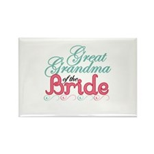 Great Grandma of the Bride Rectangle Magnet