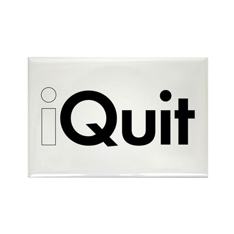 iQuit (iPod) Rectangle Magnet (10 pack)